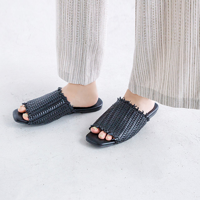 <Sale!!>mesh knitted flat sandals[364I]