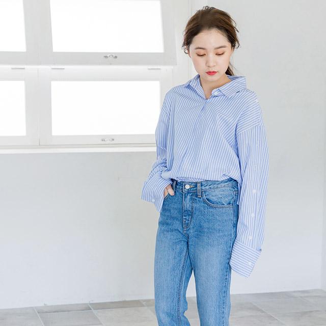 オープンスリーブシャツ(全2色)[3681C]