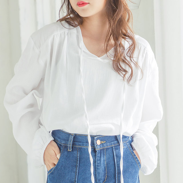airy blouse[3683C]