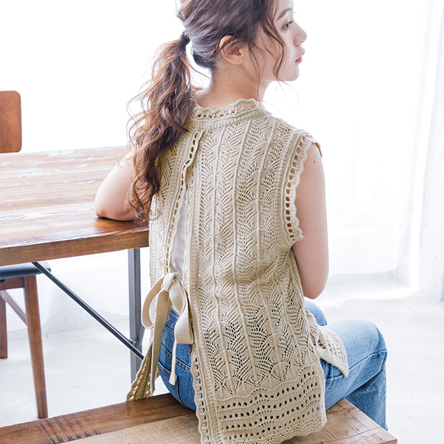 crochet back open top[3708C]