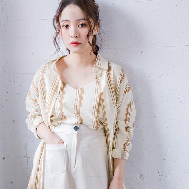 【5/21(火)19:00販売開始】ストライプシャツセット(全2色)[3764C]