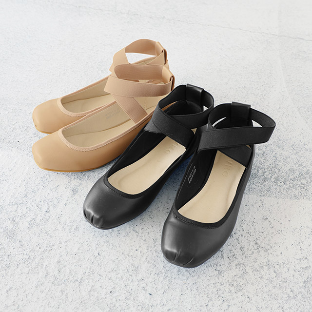 <Sale!!>cross rubber strap ballet pumps[377I]
