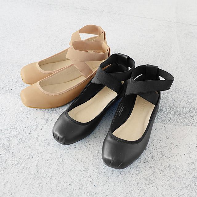 <CLEARANCE SALE>cross rubber strap ballet pumps[377I]