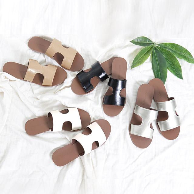 <Summer Sale!!>cutting flat sandals[384I]