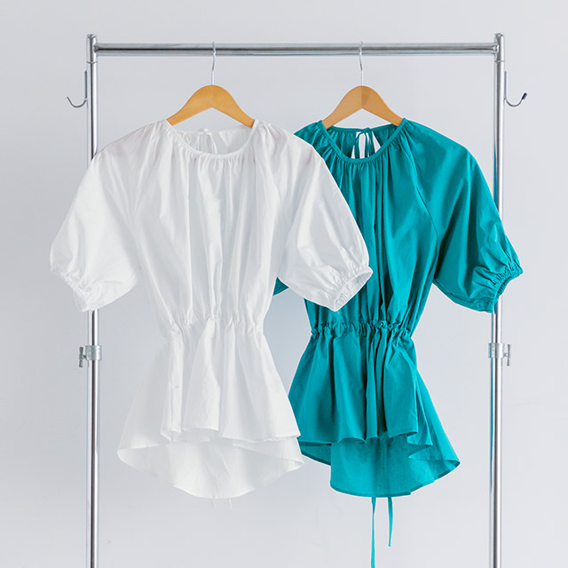 <Summer Sale!!>back open shirt blouse[3878C]
