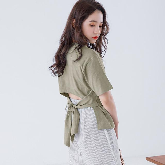 ≪村田倫子select≫バックリボンTシャツ(全3色)[3897C]
