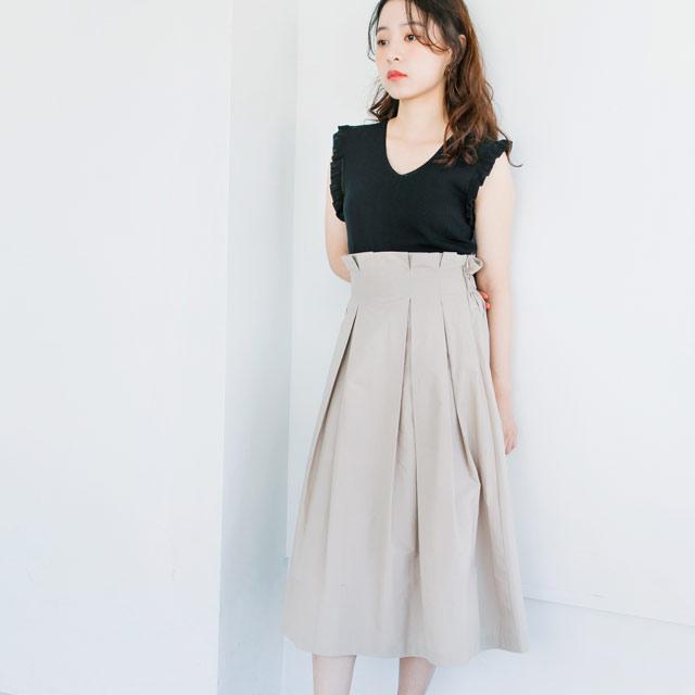 ウエストラッピングフレアスカート(全3色)[389M]