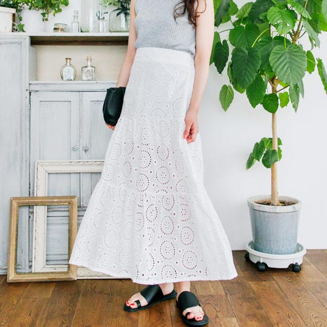 カットワークレーススカート(全2色)[397M]【7月下旬予約】