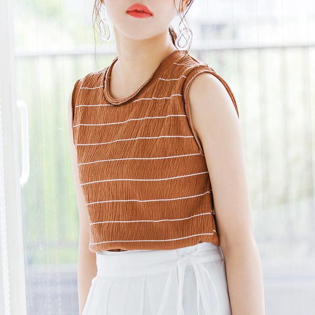 mellowhem border sleeveless[3986C]