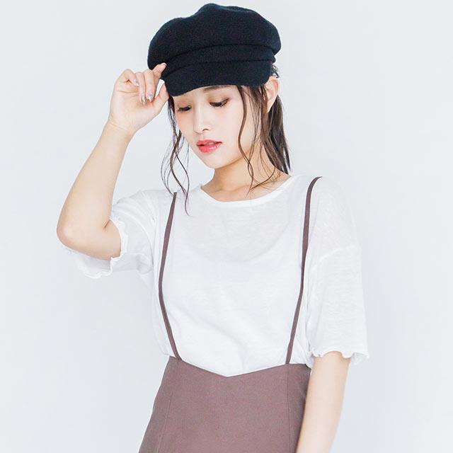 half-length sleeve mellow top[4004C]