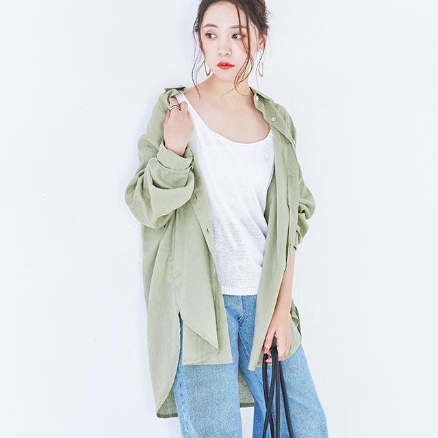 ビッグシルエットシャツ(全3色)[4043C]