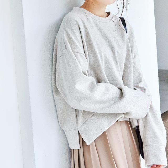 wool blend box sweat tops[4145C]
