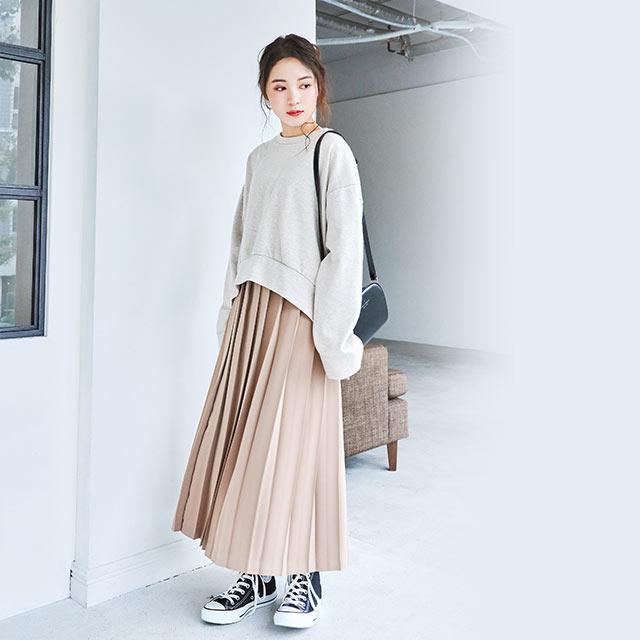 <CLEARANCE SALE>wool blend box sweat tops[4145C]