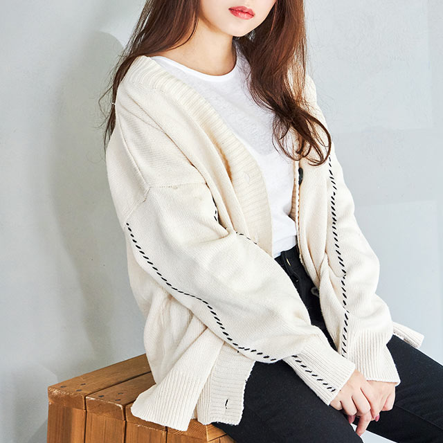 button color  big silhouette  cardigan[4147C]