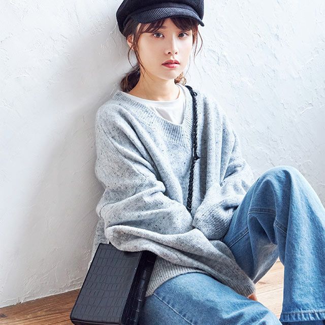 nep style big silhouette knit[4232C]