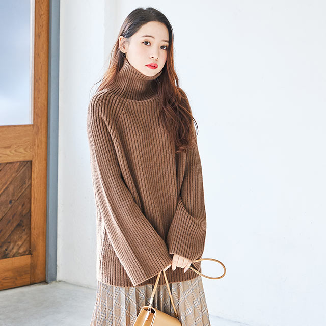 flare high neck knit[4343C]