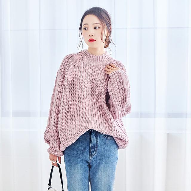 pastel color loose knit[4345C]