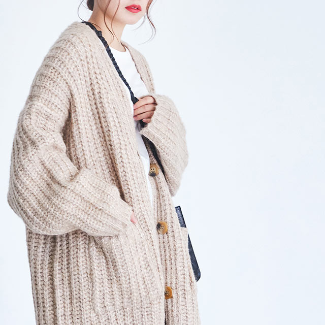low gauge long cardigan[4348C]
