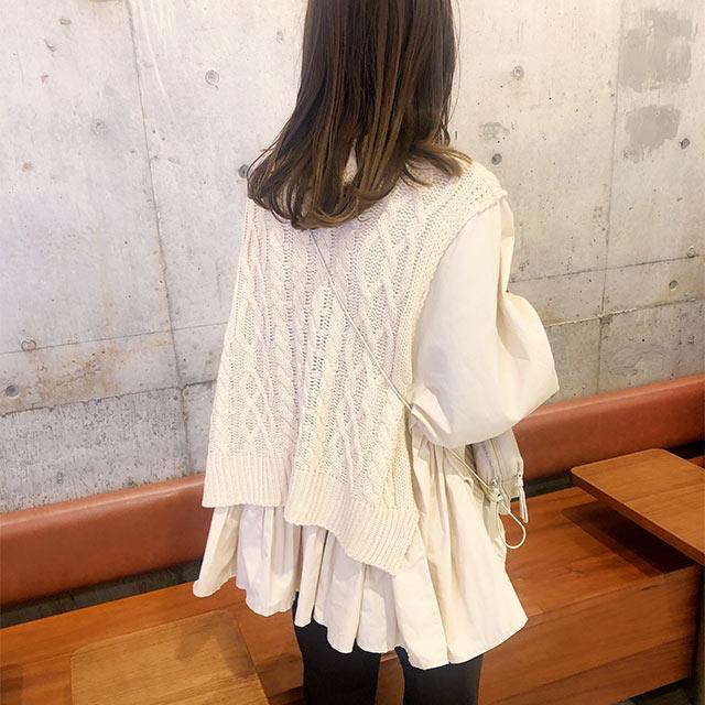 **rinko select**knit docking blouse[4351C]