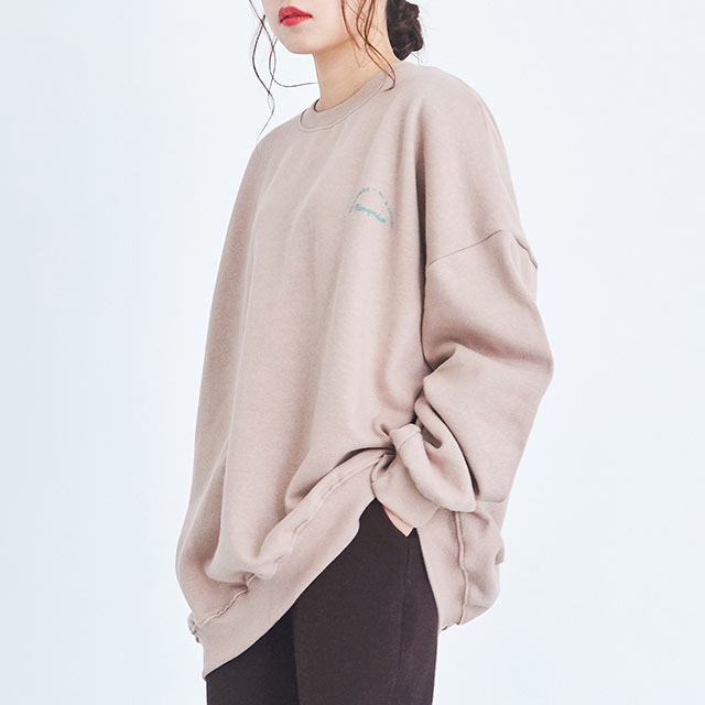 **rinko select**  back print sweat[4352C]