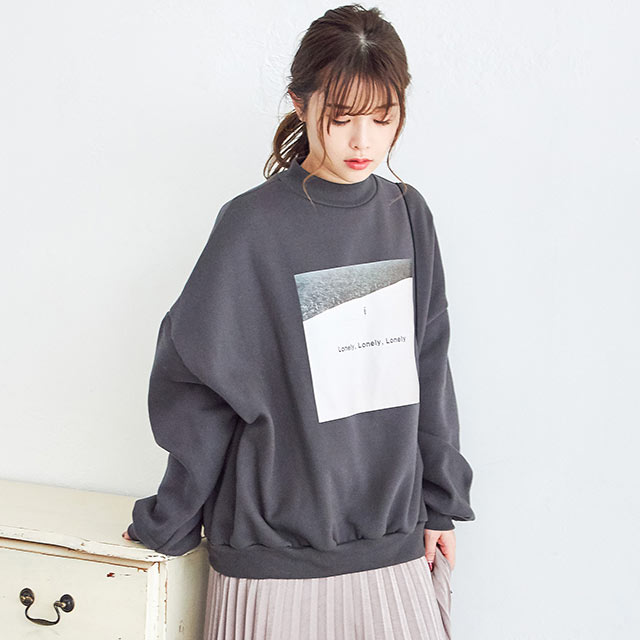 【9/27(sun)19:00〜】photo print sweat shirt[4401C]