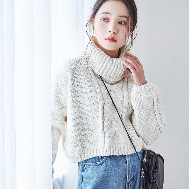 short turtle knit[4403C]