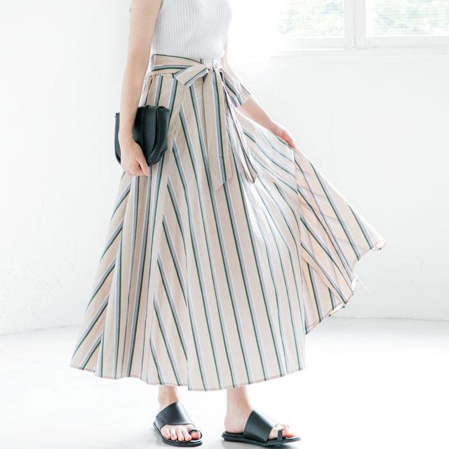 【7/17(火)19:00販売開始】ストライプスカート(全2色)[442M]【7月下旬予約】
