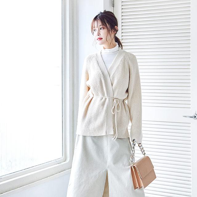 waist string cardigan[4508C]