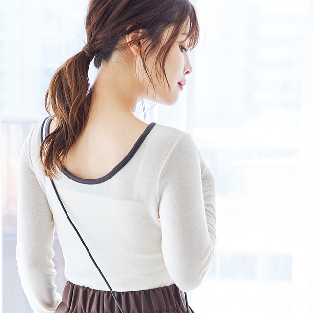 sheer piping tops[4517C]