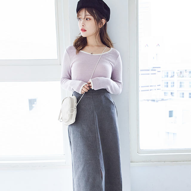 <Summer Sale!!>sheer piping tops[4517C]
