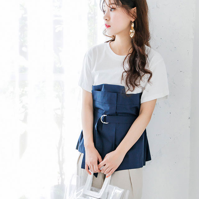 <Spring Sale>bustier layered tops [453C]
