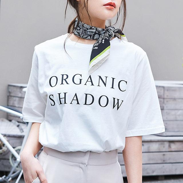 <Summer Sale!!>shadow logo t-shirt[4559C]