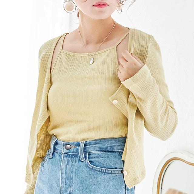 camisole x cardigan set[4561C]