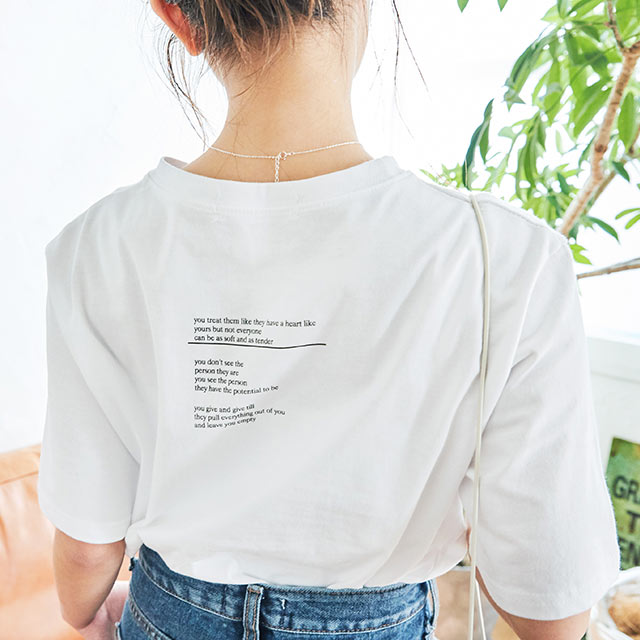 <Summer Sale!!>back logo t-shirt[4562C]