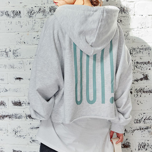 hoody short sweat pullover[4564C]