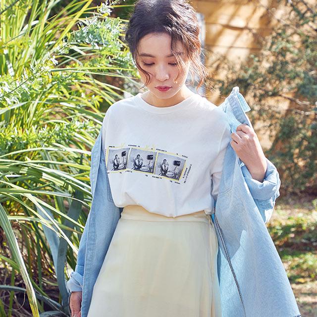 photo print t-shirt[4565C]