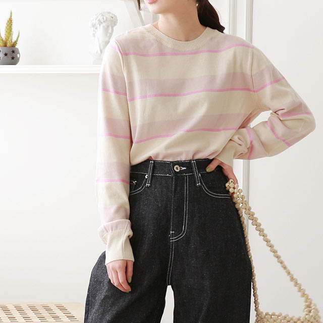 multi border knit[4567C]