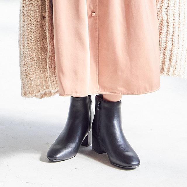 square toe short boots[456I]