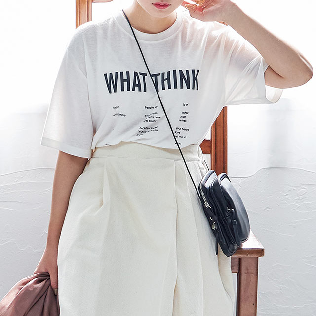 ≪トップス全品送料無料≫<Final Sale!!>casual logo t-shirt[4571C]