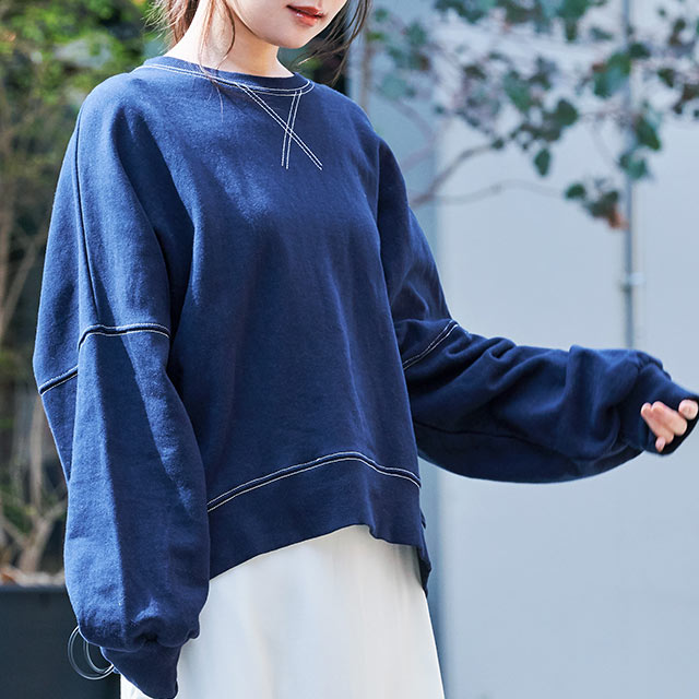 stitch design sweatshirt[4574C]