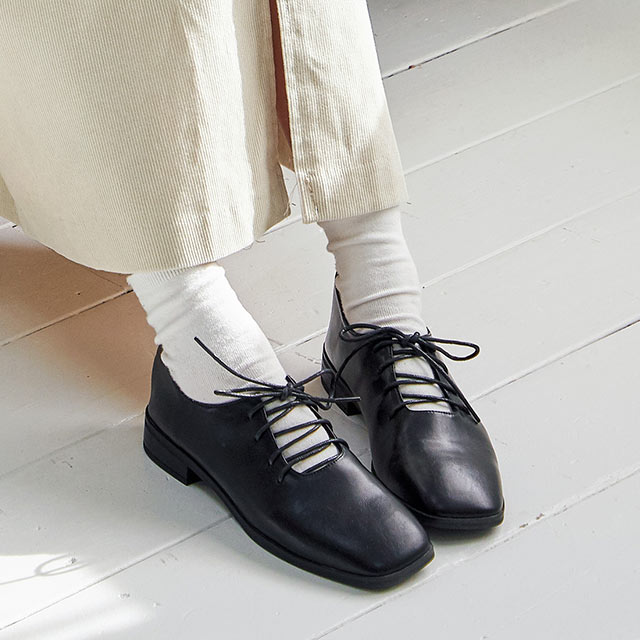 front cut oxford shoes[459I]