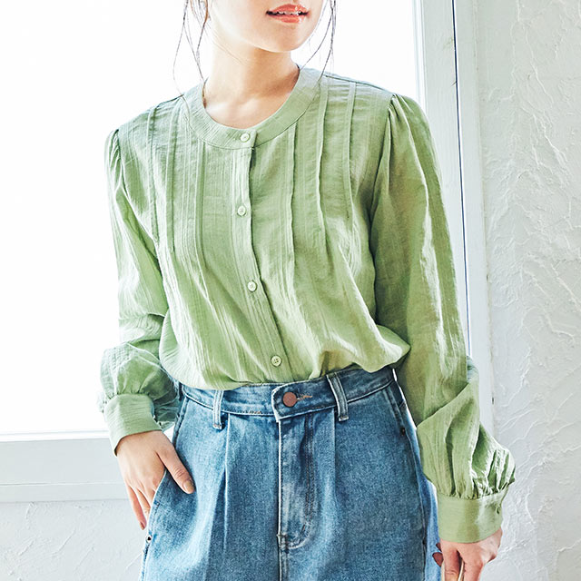 【4/9(thu)19:00〜】button point blouse[4616C]