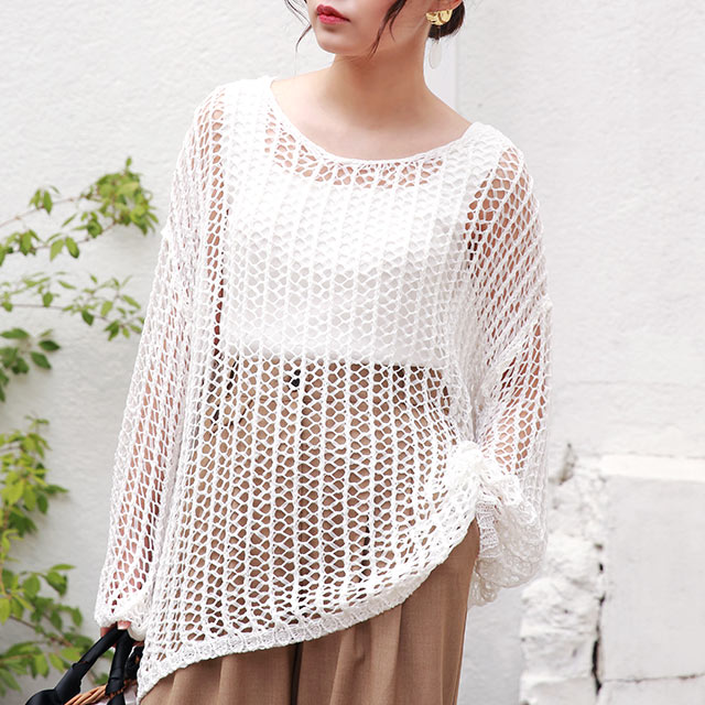 【7/1(wed)19:00〜】crochet summer knit[4672C]