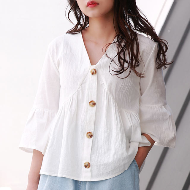 flare design blouse[4732C]