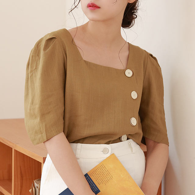 square neck summer blouse[4735C]