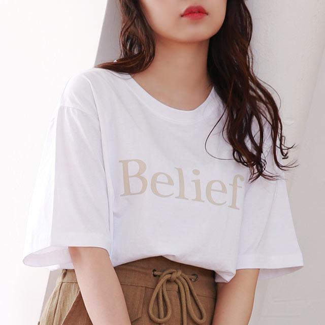 belief logo t-shirt[4736C]