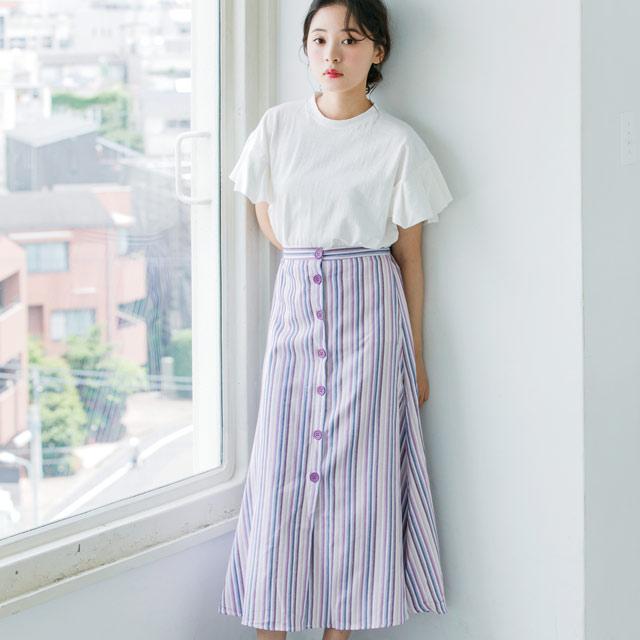 袖プリーツTシャツ(全2色)[473C]