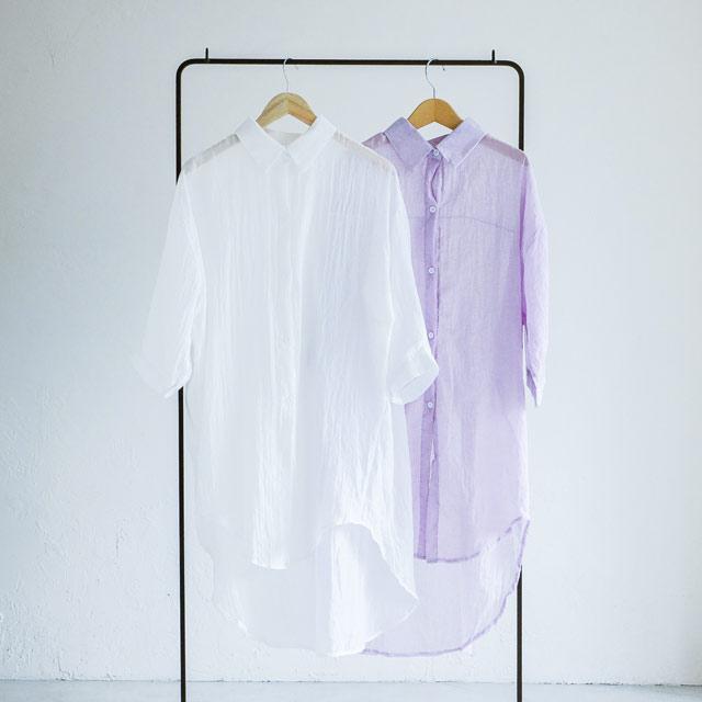 ガーゼタッチロングシャツ(全2色)[474C]
