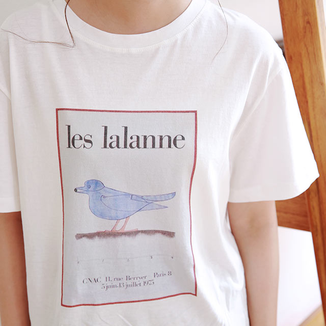 <Monday Sale!!>illustration print t-shirt[4797C]