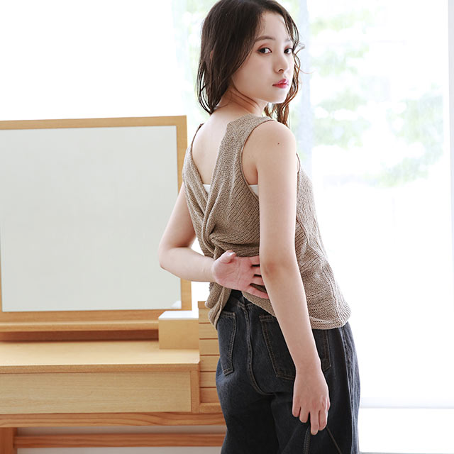 twist sleeveless summer knit[4799C]